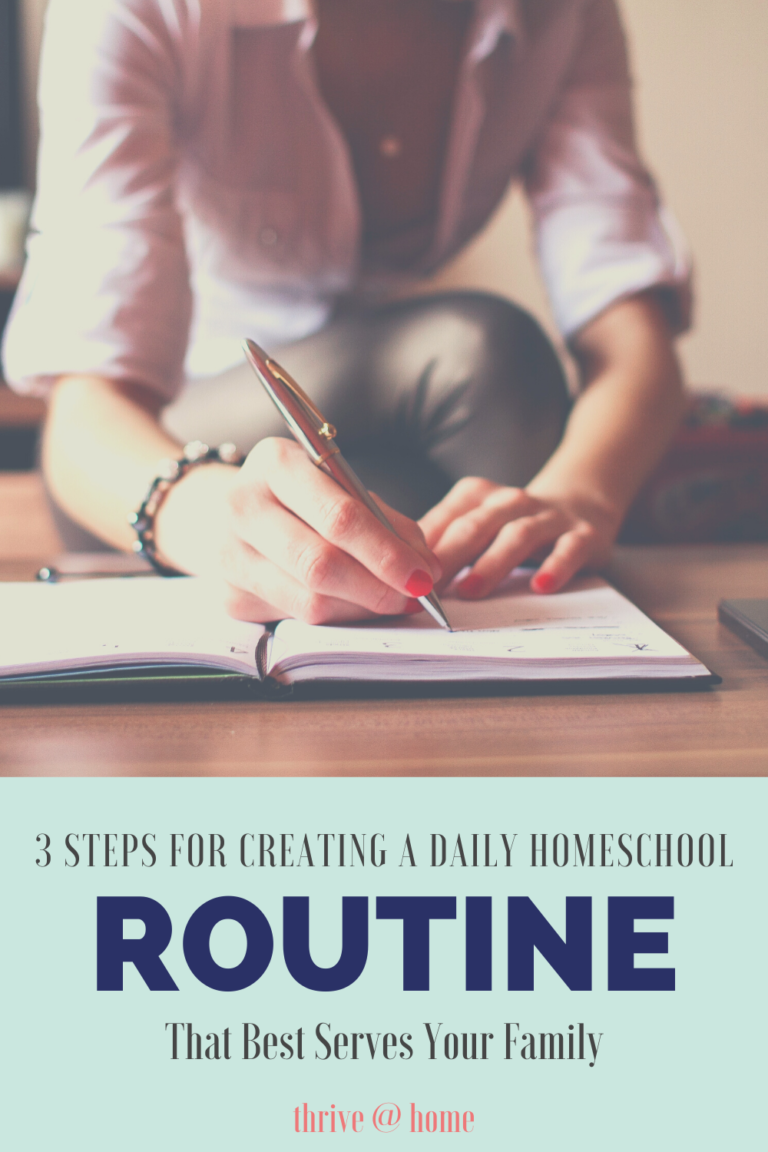 3 Steps to a Daily Homeschool Routine for Your Family