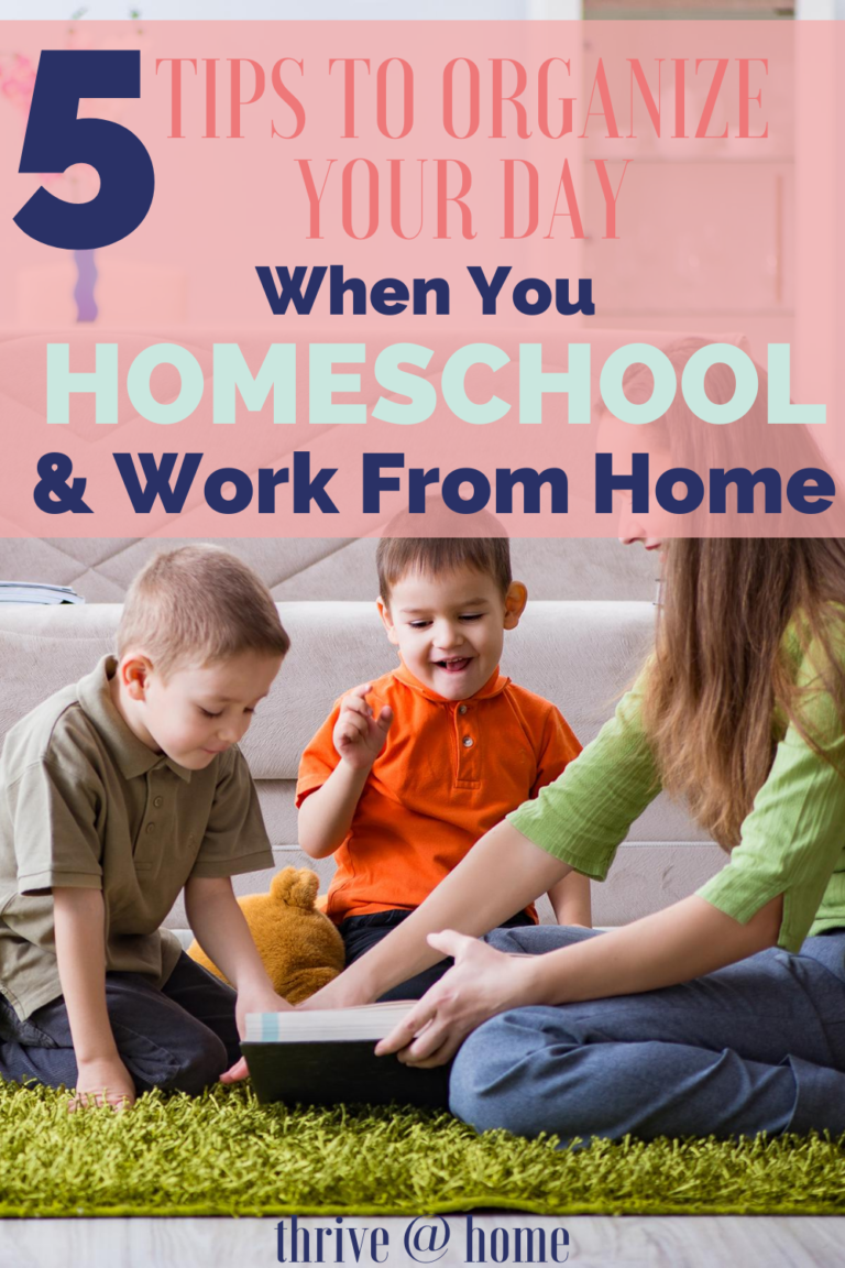 Homeschool and Work From Home? 5 Tips to Organize Your Day