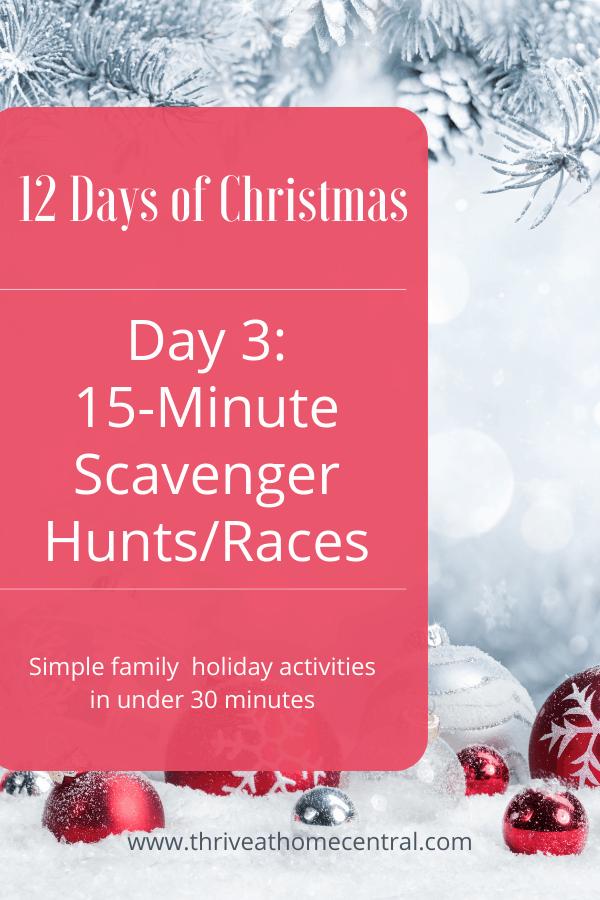 15-Minute Christmas Scavenger Hunts