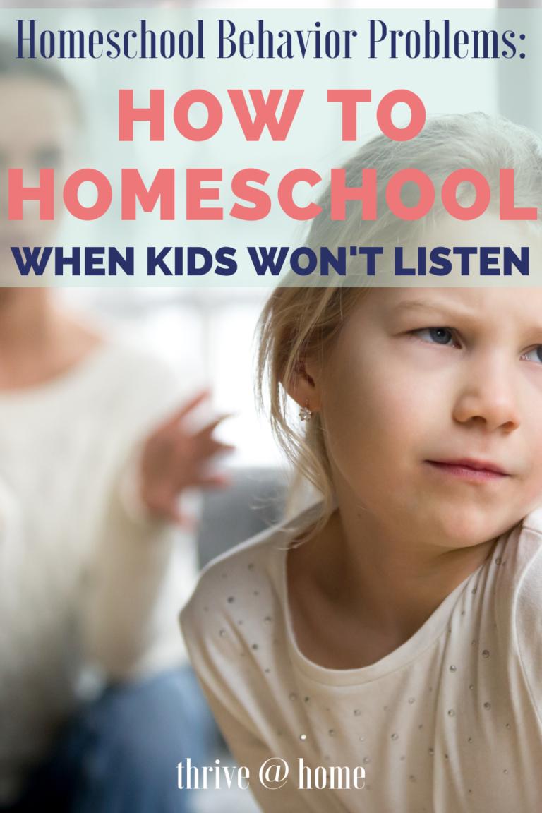 Homeschool Behavior Problems