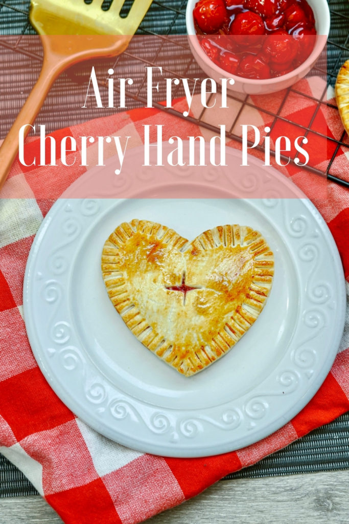 Air fryer cherry hand pies on a plate